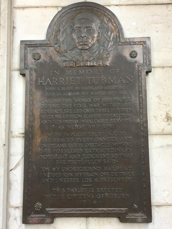 <em>Harriet Tubman Memorial Plaque</em>