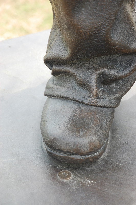 United States Colored Troops National Monument_TN_Detail of Shoe.JPG